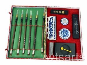 Chinesische Kalligraphie/Malset Große 6 Pinsel Japanisch Sumi e Tinte
