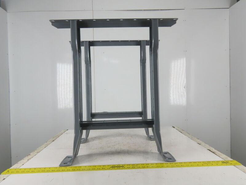 "Equipto 28-1/2"" Deep X 31"" Tall Gray Industrial Craft Table Workbench Legs (2)"