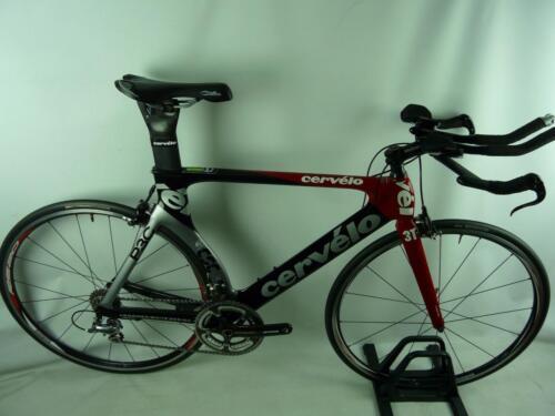 2008 Cervelo P3C Carbon Dura-Ace 7800 Carbon Crank Vision Aero Bars Size: 56cm