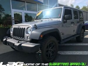 2015 Jeep Wrangler Unlimited SPORT 6-Speed! Freedom Top Hard Top