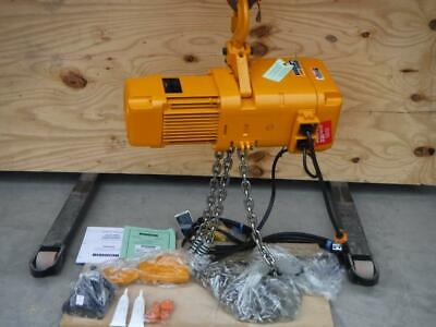 New Harrington 3 Ton Sner030c-20 20 Ft Lift Chain Hoist 230 Volt 1 Phase 3.5fpm