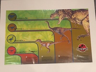 Jurassic Park The Lost World Dinosaur Diagram Poster Print