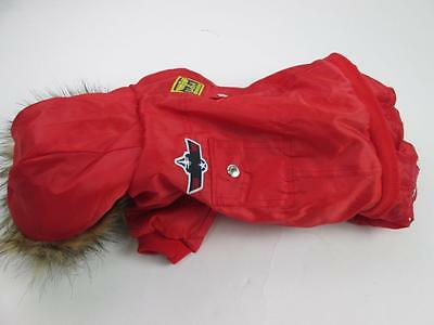 DOG US AIR FORCE FIGHTER COSTUME PILOT PARKA JACKET JUMPSUIT RED SZ XL NEW - Dog Pilot Costume