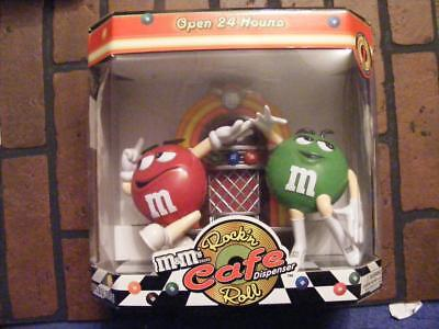 M&M ROCK'N ROLL CAFE CANDY DISPENSER IN ORIGINAL BOX MARS CANDIES 1ST EDITION
