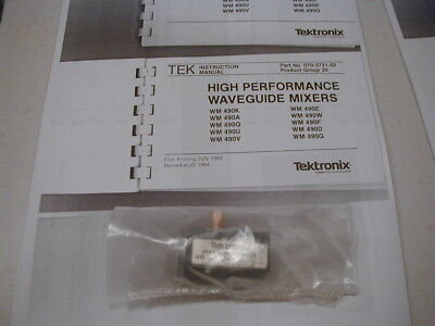 Wmx11 Tektronix 40-63 Ghz Wg Mixer For 492 Later Spec Ans. W Book Copy Nos