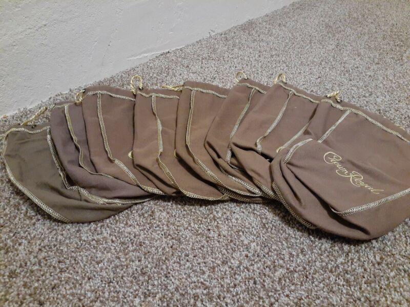 8 Crown Royal Vanilla Brown Bags 750 mL Drawstring