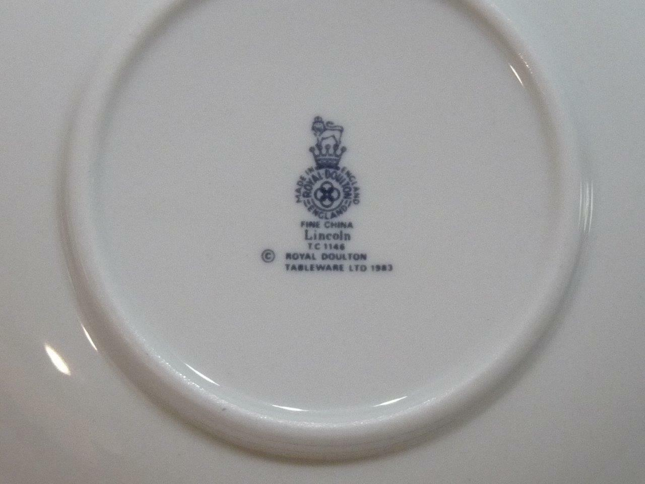 Royal Doulton Lincoln Saucer Majestic Collection 6 Quot Made