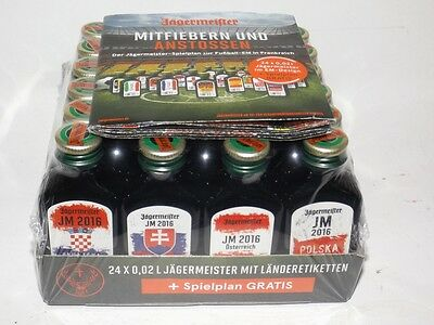 Jägermeister 24er-Pack 0,02 ml mini flaschen  EM 2016 JM Sonderedition