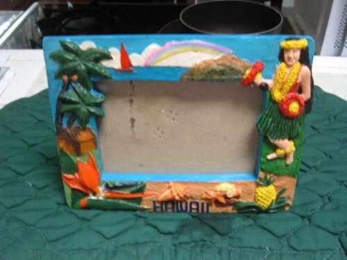 "HAWAII 3"" x 5"" BEAUTIFUL HAWAIIAN MOTIF RAISED DESK-TOP PICTURE PHOTO FRAME"