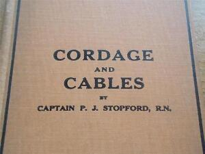 Vtg-RARE-1st-Ed-Antique-1925-Nautical-Book-CORDAGE-CABLES-THEIR-USES-AT-SEA