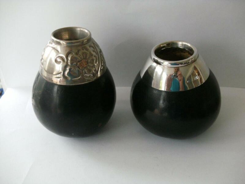 Lovely Pair Of Silver Gourd Vases