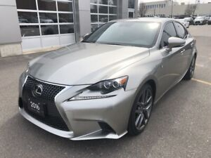 2016 Lexus IS | VERY LOW KM, Navigation, Backup Camera, Moonroof