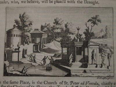 1725 ANTIQUITIES OF ITALY TRAVELS OF BERNARD DE MONTFAUCON IN YEARS 1698 & 1699*
