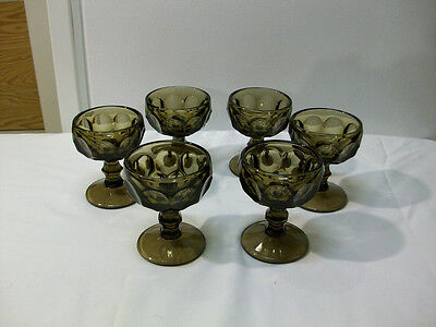 """Vintage Imperial Glass Verde Green """" Provincial """" Tall Sherbet - 6 of them"""