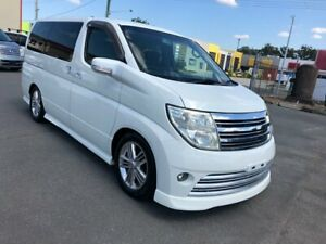 2004 Nissan Elgrand E51 Rider S Aut Series 2 Seats 8 White 5 Speed Automatic Wagon Arundel Gold Coast City Preview