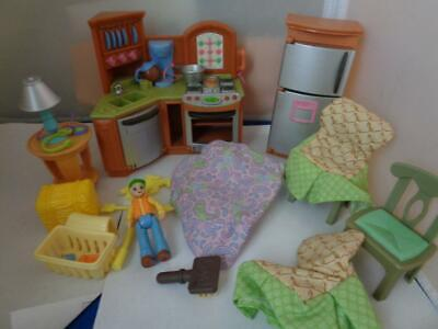 Vtg Fisher Price Loving Family Doll House Furniture