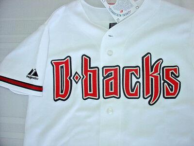 Arizona DIAMONDBACKS Baseball JERSEY ( Boys Medium) Majestic MLB. USA. SEWN LOGO