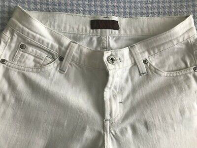 Ladies White James Dry Aged Jeans