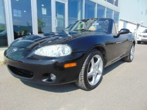 2002 Mazda MX-5 Miata CONVERTIBLE TRÈS BAS KM AC MANUAL LEATHER