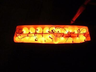 Vintage Halloween pumpkin 20 light  string set blow mold 1994 - Pumpkin Halloween Lights
