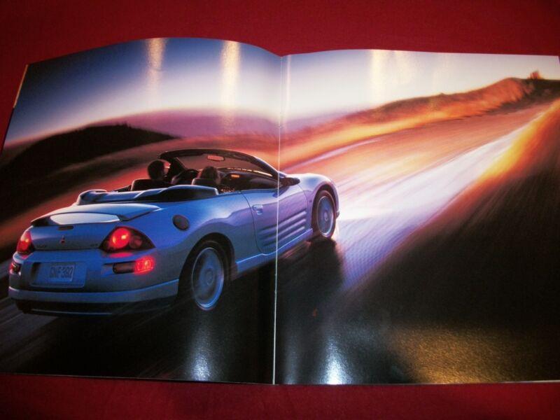 2001 01 MITSUBISHI ECLIPSE SPYDER NEW CAR SALES BROCHURE ORIGINAL 20+ PAGES