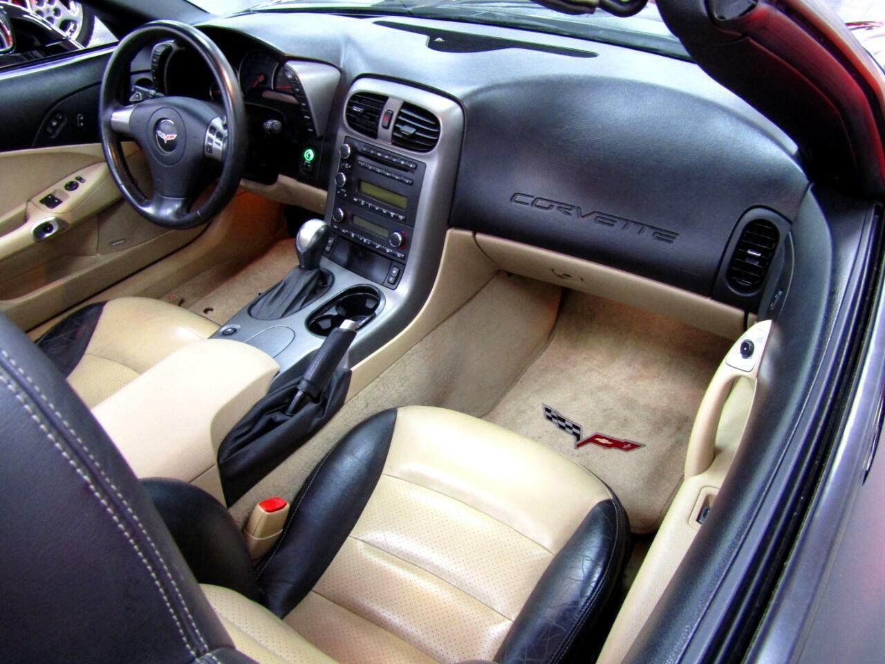 2007 Black Chevrolet Corvette Convertible    C6 Corvette Photo 8