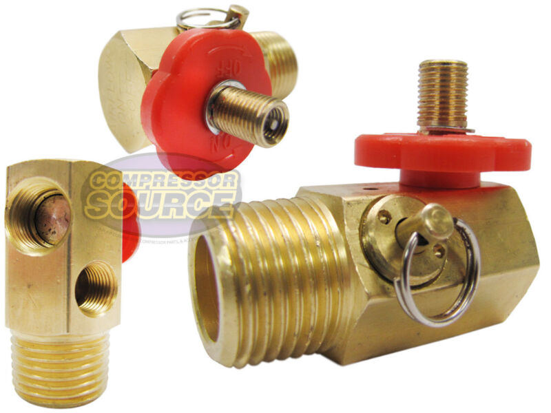 Compressed Air Bubble Tank Manifold Valve W/ Fill Port , Ball Valve , & Relief