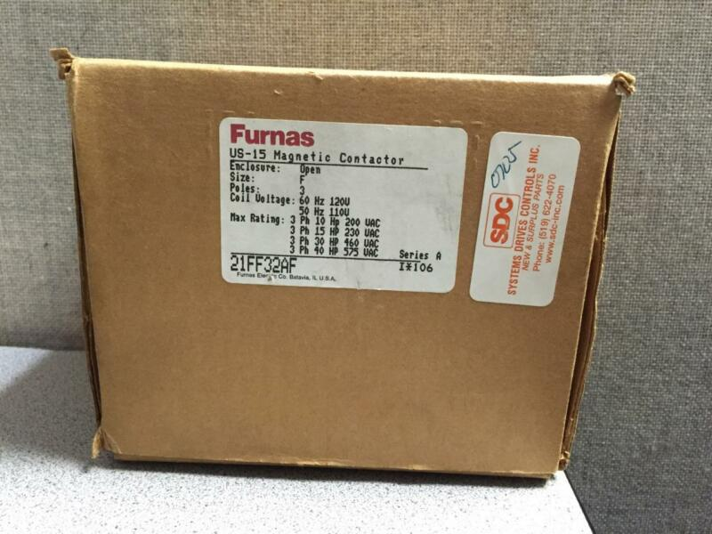 FURNAS ELECTRIC CO 21FF32AF NON REVERSING CONTACTOR 120V 3POLE NEW!!