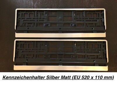 enhalter Silber Matt Chrom Optik Gebürstet Made in EU (Led In Der Masse)
