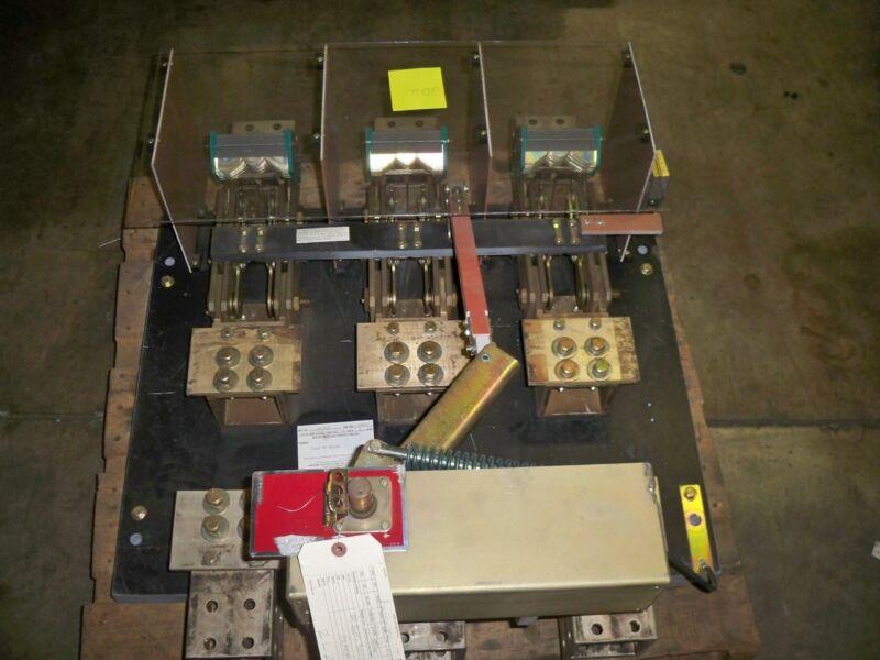 Boltswitch  Sm3613 4000a 3ph 600v Black Switch Used E-ok