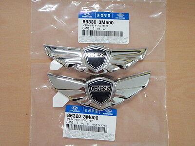 Wing Logo Trunk Lid emblem badge for 2009-2014 Hyundai Genesis V6 V8 R-spec