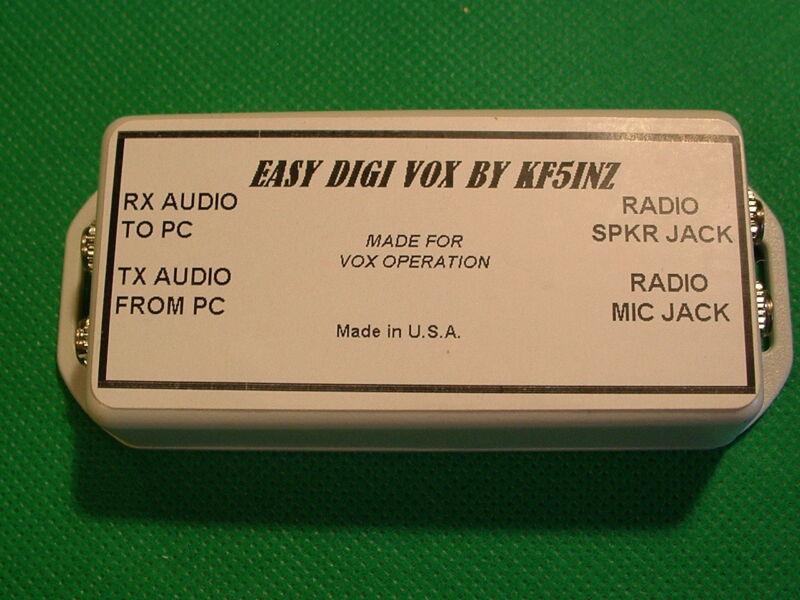 EASY DIGI™ Sound Card Interface PSK RTTY SSTV NBEMS JT-65 VOX UNIT W/CABLES