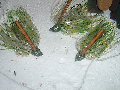 Custom Hand Tied 4 pack of 1//32 oz  jigs Bream and Trout #404-132 Crappie