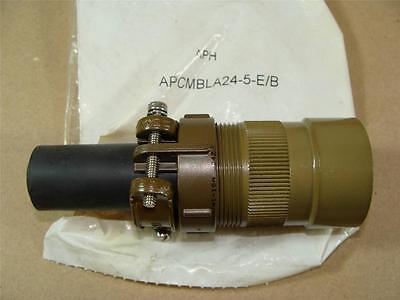 Amphenol Apcmbla24-5-eb Mil-c-5015 Mil Spec 16 Pin Male Round Connector Body