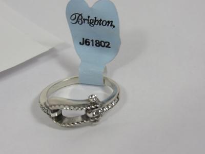 BRIGHTON LAZO  belt buckle  SILVER RING   NWT   SIZE  9