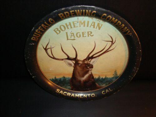 Circa 1900 Buffalo Brewing Elk Head Tray, Sacramento, California