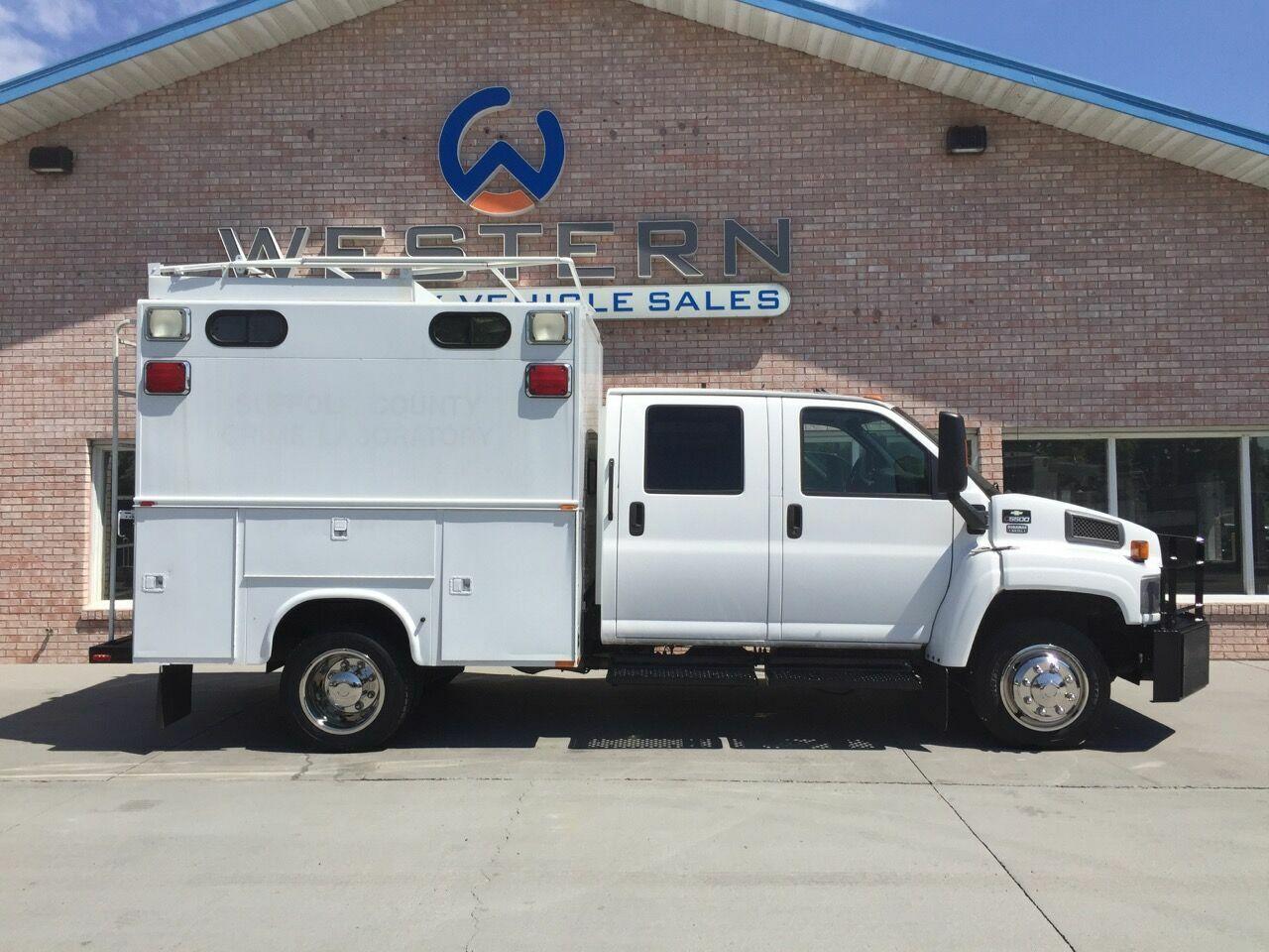 2007 Chevrolet C5500 Crew Cab Service Truck LOW MILES