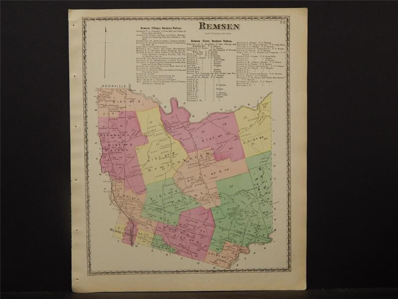 New York, Oneida County Map, 1874 Town of Remsen Z2#74