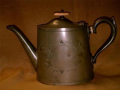Vintage Best Electro Plate Sheffield A1 Teapot-England-Cartouche-Bone Knob Lid