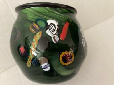 Vintage A Arthur Allison-Art Glass Vase-Signed And Numbered-4  - $29.99