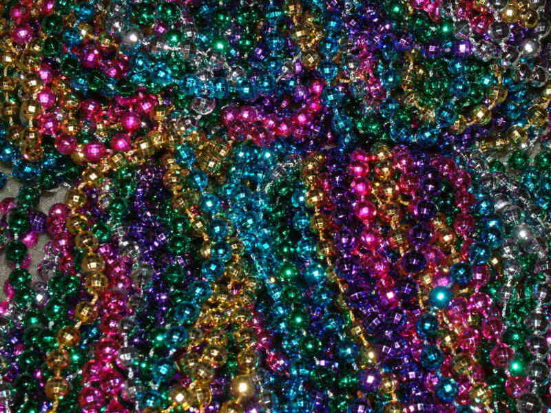 5 DOZEN (60) MULTI-COLOR MARDI GRAS BEADS/NECKLACES-PARTY FAVORS-FREE SHIPPING!
