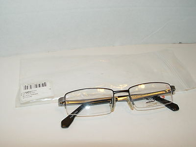 29b19d6e6d5 New Quiksilver QO3040 403 Silver Black Glasses Frames 46mm 16mm 130mm