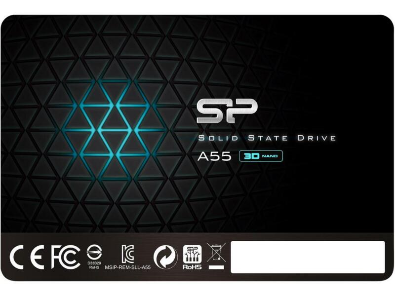 """Silicon Power Ace A55 2.5"""" 256GB SATA III 3D TLC Internal Solid State Drive SSD"""