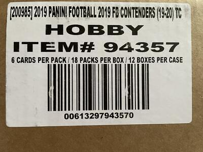 2019 Panini Contenders Factory Sealed Football Hobby 12 Box Case Kyler Murray
