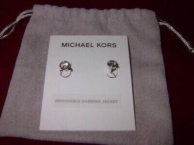 MICHAEL KORS EARRINGS  MKJ5847040  SILVER TONE STAINLESS STEEL