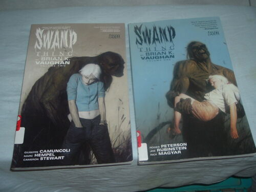 Lot of 2 Swamp Thing Brian K.Vaughan Volumes 1,2 Take Root,Not Out of Woods Yet