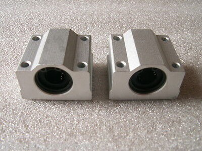 2 Cnc Linear Motion Bushing Cylinder Shaft 25mm Rod Sc25uu Scs25uu Bearing Block