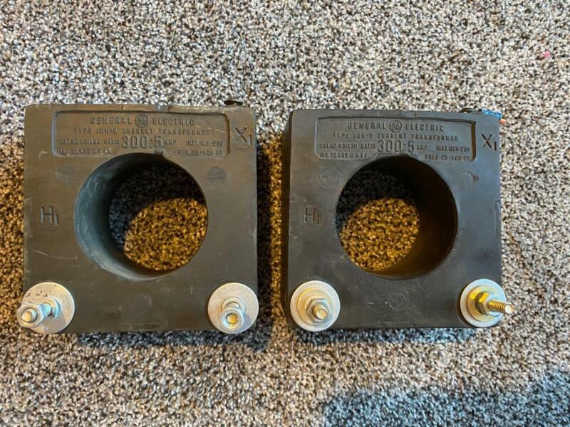 LOT OF 2 *GENERAL ELECTRIC TYPE JCH-0 CURRENT TRANSFORMER 300.5 AMP*