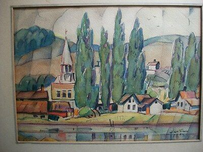 Glen Tracy Water Color Signed & Dated 1931 Suttons Bay Michigan Impressionist