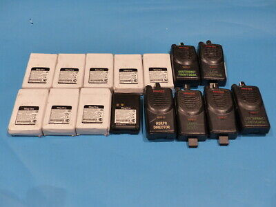 Lot Of 6 Mag One Two Way Radio W 9 Mag One 7.2 V Nickel Battery
